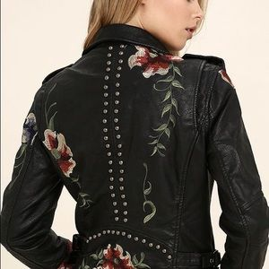 Urban Outfitters Jackets & Coats - Urban outfitters Floral Embroidered Moto Jacket